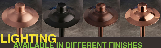 Lighting Available in Different Finishes   Naples Landscape Lighting