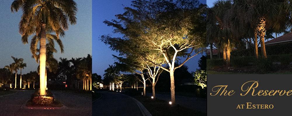 Community Lighting - The Reserve | Naples Landscape Lighting